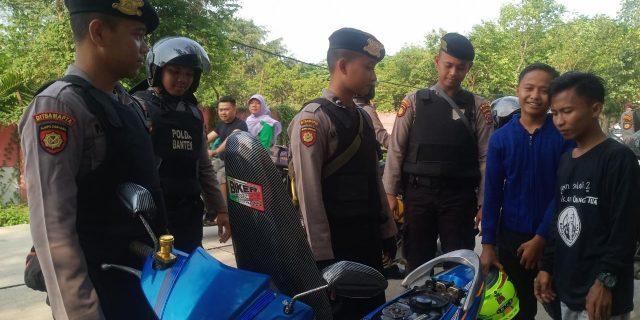 Cegah  Aksi Premanisme Ditsamapta Polda Banten Rutin Gelar Patroli Dialogis