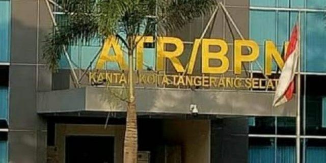 Diduga BPN Kanwil Banten Meng Amini Kinerja BPN Tangsel