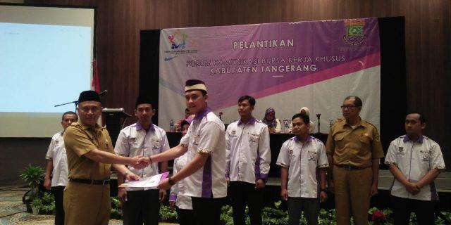 Pelantikan Pengurus Forum Komunikasi Bursa Kerja Khusus (FK-BKK) Kabupaten Tangerang