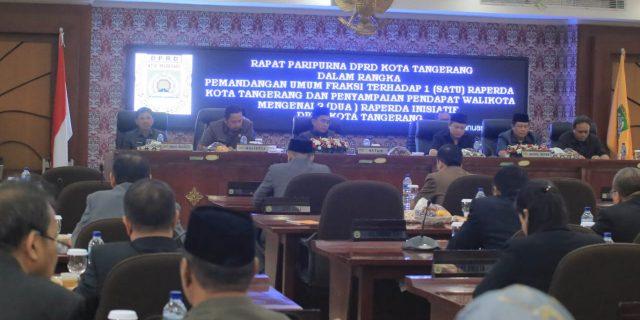 Dua Usulan Inisiatif DPRD Kota Tangerang Diapresiasi Walikota Tangerang