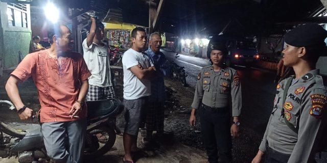 Berikan Rasa Aman Bagi Warga yang Mengungsi, Personil Dit Samapta Polda Banten Lakukan Patroli