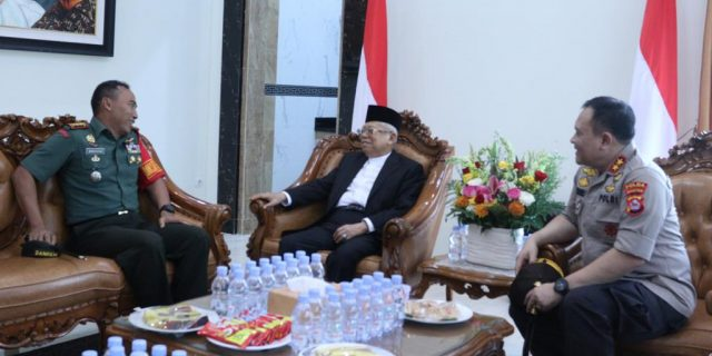 Polda Banten dan Korem 064/MY, Amankan Kunjungan Wakil Presiden Diponpes An-Nawawi
