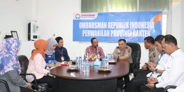 Kapolda Banten silahturahmi ke Ombudsman RI Perwakilan Banten