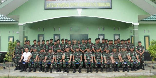 Cek Kesiapsiagaan, Kasum TNI Kunjungi Satgas Yonif R 600 di Perbatasan RI-Malaysia