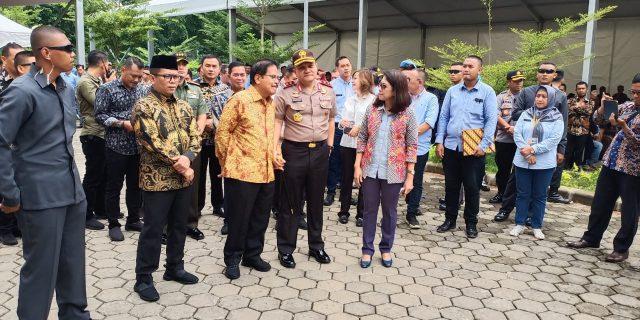 Amankan Kunker Menteri ATR, Ditpamobvit Polda Banten Terjunkan Tim Pengamanan VIP