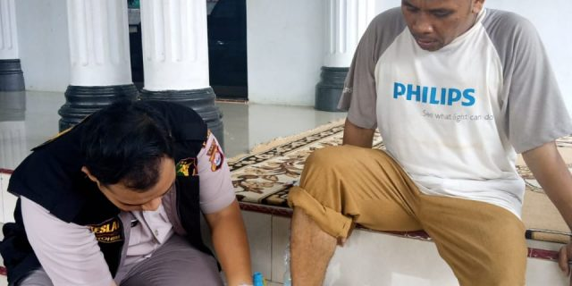 Biddokes Polda Banten, Berikan Layanan Bhakti Kesehatan di Posko Pengungsian