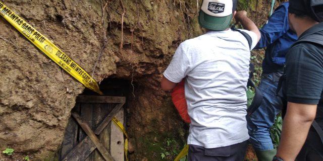 Puluhan Lubang Tambang Emas, Di Razia Satgas PETI Gabugan Polda Banten