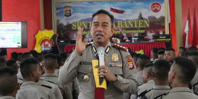 Dirpamobvit Polda Banten, Berikan Sosialisasi Tugas Pam VIP dan Polisi Pariwisata kepada Siswa SPN