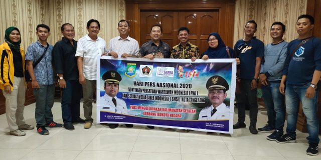 Keberangkatan PWI dan SMSI Dilepas Langsung Walikota Tangerang