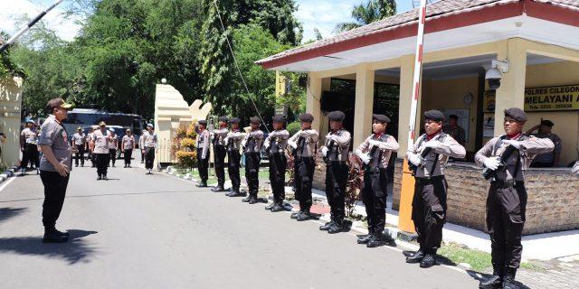 Kapolda Banten, Di Sambut Jajar Kehormatan Saat Kunker Ke Polres Cilegon
