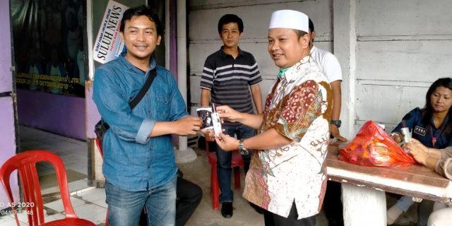JTR Terima Bantuan Masker dan Sanitizer Dari Wakil Ketua DPRD Kota Tangerang