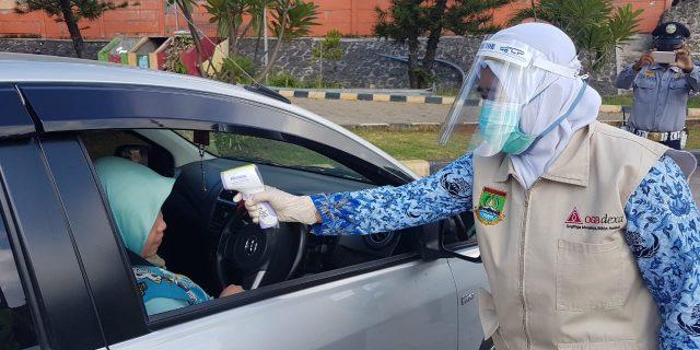 Pintu masuk dan Keluar Tol Cilegon Diperketat Jelang PSBB Kab. Tangerang