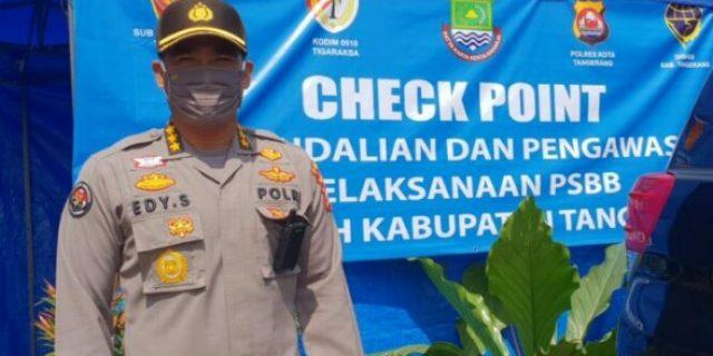 Kabid Humas Polda BantenTinjau Langsung 16 Chek Poin PSBB Tangerang Raya