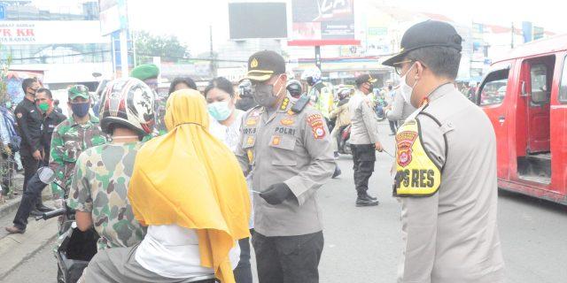 Hari Pertama PSBB Kab Tangrerang Polisi Keluarkan 262 Teguran