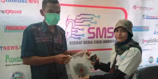 SMSI Kota Tangerang Terima Bantuan Masker Dari PMI Kota Tangerang