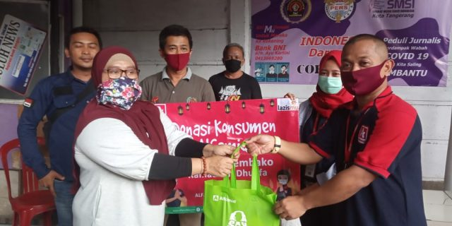 Wartawan Kota Tangerang Dapat Perhatian Dari Alfa Midi dan Lazismu