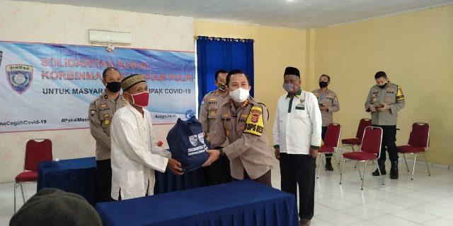Korbinmas Baharkam Polri Salurkan 800 Paket Sembako di Balaraja