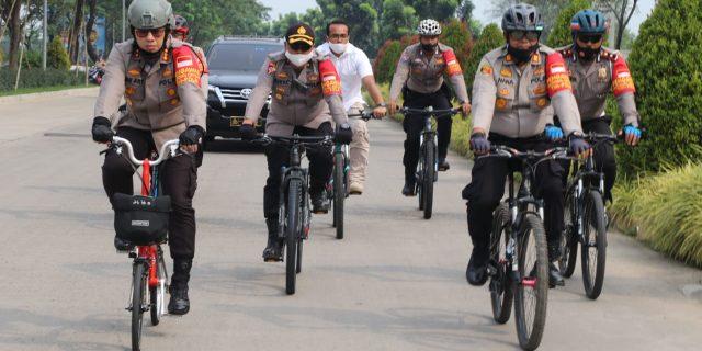 Kapolresta Tangerang Patroli Sepeda Guna Mengedukasi Warga Terapkan Protokol Kesehatan