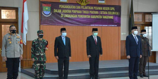 Bupati Tangerang Lantik 4 Pejabat Eselon II.b
