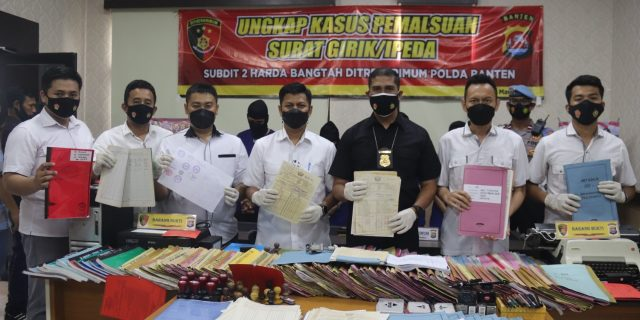Satgas Mafia Tanah Polda Banten Amankan Empat Tersangka Pembuat Girik Palsu