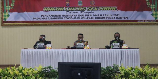 Gelar Rakor Linsek, Tiga Pilar di Banten Tetapkan 19 Titik Lokasi Penyekatan