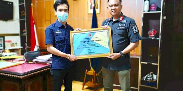 Dukung Pembangunan ZI WBK, PWI Banten Berikan Piagam Penghargaan Kepada Lapas Pemuda Tangerang