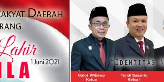 DPRD Kota Tangerang Ucapkan Selamat Hari Pancasila
