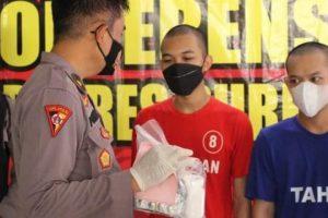 """Polres Purbalingga, Amankan Tersangka pengedar obat Daftar """"G"""", Belinya Melalui Online"""