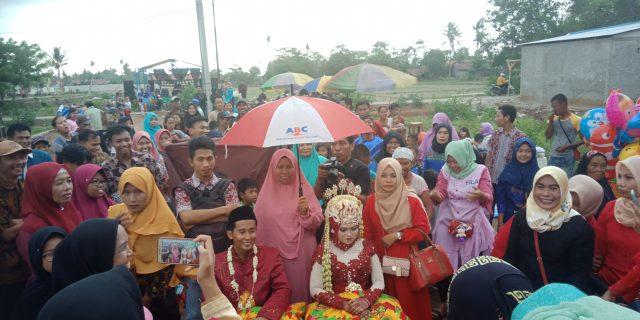 Prosesi Pernikahan Sahrul Badri Dan Satiyah Berlangsung Meriah