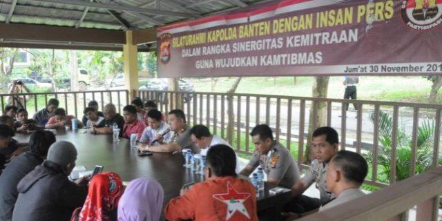 Kapolda Banten Silaturahmi Dan Bangun Sinergitas Bersama Insan Pers