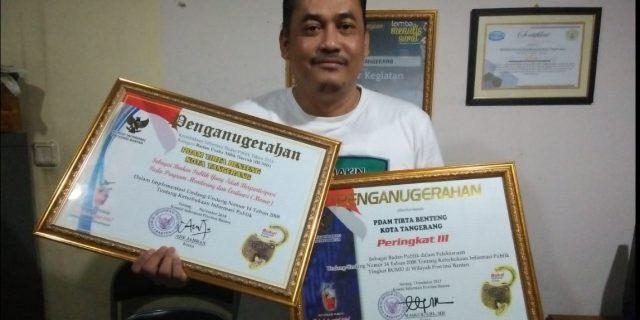 PDAM TB Kota Tangerang Raih Penghargaan KIP Ditahun 2018