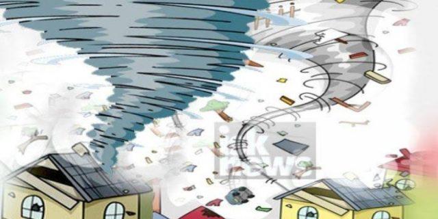 Lima Rumah Warga Di Lebak Banten Diterpa Angin Puting Beliung