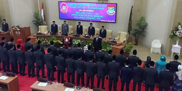 Anggota DPRD Kabupaten Tangerang Resmi Dilantik