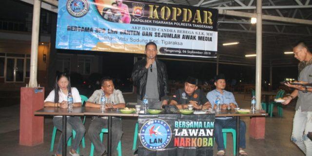 Kapolsek Tigaraksa dan Lembaga LAN Gelar Kopdar Bersama Awak Media